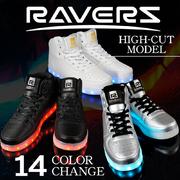 SALE価格!!【RAVERS】 ハイカット HIGH CUT LEDスニーカー オリジナル 14発光モード
