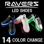 【RAVERS】 LEDスニーカー オリジナル 14発光モード